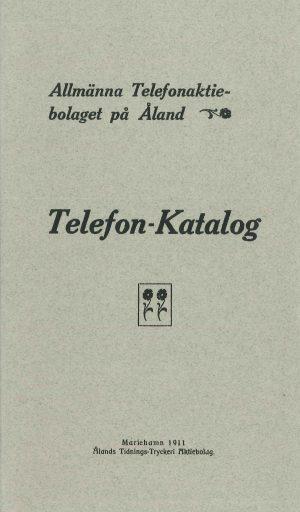 Telefon-Katalog - Allmänna telefonaktiebolaget på Åland